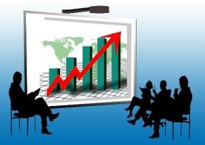 Graphisme de croissance - économie / Entreprise
