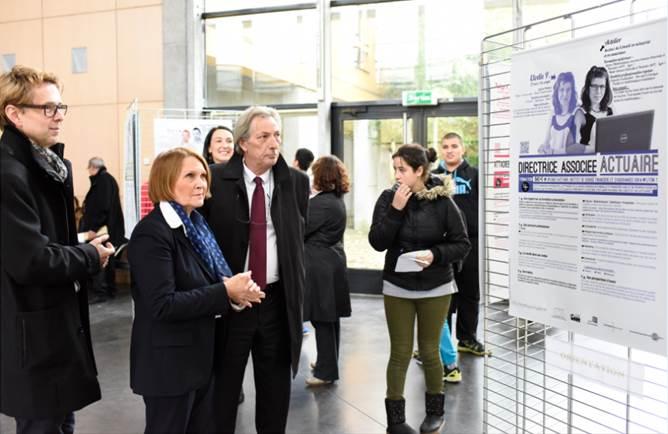 Inauguration MIX'iti Mme la rectrice et la présidence Lyon 1